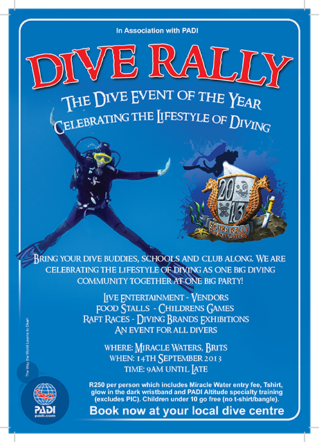 Dive Rally A5 Flyer