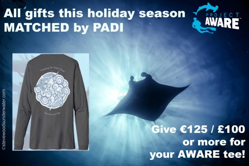 #GivingTuesday All gifts to Project AWAREmatched by PADI poster